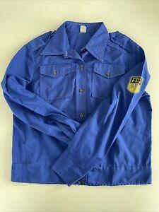 DDR FDJ Bluse m 82 Baumwolle Hemd Blauhemd