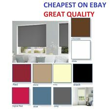Blackout Roller Blinds Up to 120cm x 160cm Quality Thermal Blind Fabric
