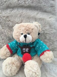 **Teddy Clothes** New  Hand Knitted Christmas Jumper And Teddy