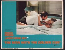 JAMES BOND MAN WITH THE GOLDEN GUN 1974 U.S LOBBY CARD ROGER MOORE BRITT EKLAND