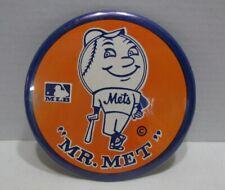 1969 Mr. Met New York Mets MLB Pinback Button, large 6 inch diameter