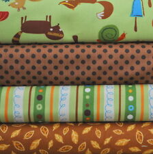 Animal Party Too Earth 4 Fabric Fat Qrtrs Bundle, Amy Schimler, Robert Kaufman