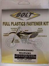SUZUKI RMZ 250 2004 - 2006 plastique Kit Fixation remplacement écrous boulons