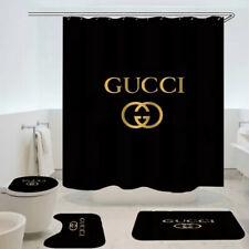 HOT SALE Shower Curtain Set Black Gold Limited Edition