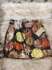 ZARA Multicoloured Floral Sequin Mini Skirt MEDIUM BNWT Party Xmas