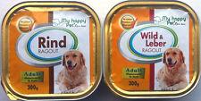 54 x 300g Hundefutter Ragout 2 Sorten Wild/Rind in Aluschale *versandfrei*
