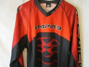 Classic Large Orange & Black EMPIRE Pullover Paintball Jersey-Mint