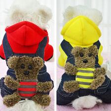 Moda Mascota Gato Cachorro Abrigo De Invierno Capucha Disfraz Perro Ropa