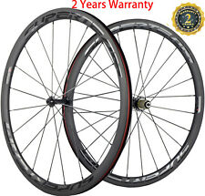 700C 38mm Clincher Bicycle Wheels Road Bike Carbon Wheelset 23mm Width Matte