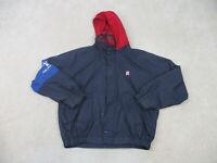 VINTAGE Ralph Lauren Chaps Jacket Adult Large Blue Red Coat Mens 90s B14*