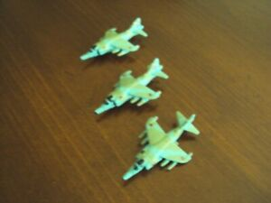 Lot of 3 Galoob Micro Machines Harrier GR.3 British Military Aircraft
