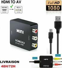 Mini Adaptateur Convertisseur Hdmi vers Rca/ Rca vers Hdmi 1080p+Cable