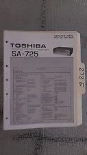 Toshiba sa-725 service manual original repair book stereo receiver tuner radio