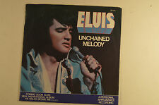"elvis presley 7"" 45 unchain melody/softly, as i leave you  pb 11212  vg+/m-"