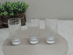 "Mikasa Crystal Park Lane 5 5/8"" Highball Tumblers Glasses (3)"