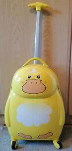 Kindertrolley Hartschale Trolley Koffer Kinderkoffer Reisetrolley Tiermotiv Ente