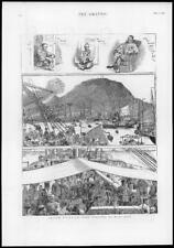 1885 Antique Print - FAR EAST Singapore Hong Kong Chinese Boat Passengers (249)