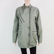 Warehouse Womens Size 12 Green Zip Up Cotton Jacket