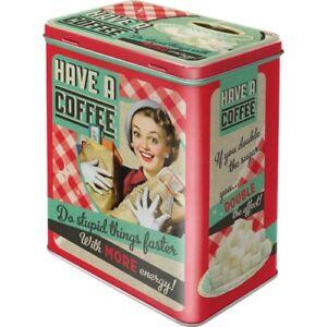 Coffee Have A Coffee Storage Sz. L, Metal Hoard Box 2,8 Litre