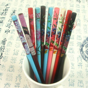 2Pcs Hand-carved Vintage Hairpin Women Chopstick Hair Stick WH