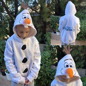 FROZEN II (2019) Official Kids OLAF Pull-Over Hoodie Sweatshirt Size 6T Euro 140