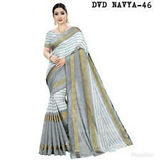 Traditional Saree Casual Wear Gorgeous Ethnic Designer Checks Sari NAVYA 46