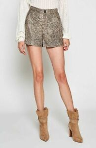 NWT JOIE ABREAL ANIMAL PRINT  100% LEATHER WOMENS SHORTS/PANTS  Sz 8 $ 498.00