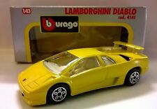 BURAGO 1:43 DIE CAST MADE IN ITALY LAMBORGHINI DIABLO GIALLO ART 4141