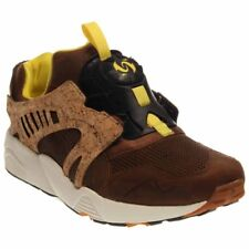 949b2eca387f8d PUMA Mens Leather Disc Cage Lux Opt.2 Tan Leather Lace up SNEAKERS Shoes 12