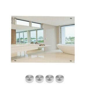 Large Frameless Bathroom Mirror Wall Glass Mirror Rectangle Hallway 60cm x 45cm