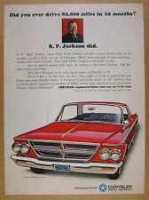 1964 Chrysler 300 4-door Hardtop red car photo vintage print Ad