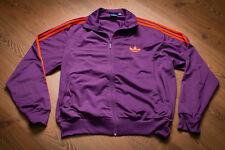 ADIDAS Originals 3XL Firebird Trefoil Track Jacket Tracksuit Purple Orange Shirt