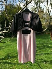 Michaela Louisa Mother Of The Bride Black Light Pink Dress Suit Size UK 10, US 6
