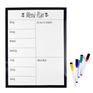 """Magnetisches Whiteboard """"Menü-Plan"""" - Einkaufsliste, einfach zu beschreiben"""