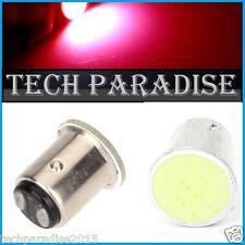 2x Ampoule LED COB 12 Chips Rouge Red feux stop P21W / BAY15D / 1157 / R5W