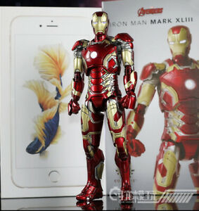 1/12 Scale Comicave Iron Man MK43 Action Figure Toy Alloy Movable Model Toy