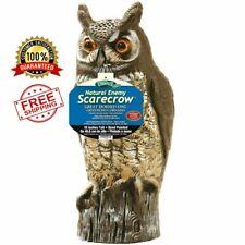 Great Horned Owl Scarecrow Plastic Bird Repellent Decoy Yard Garden Decoration