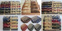 Echiquier jeu d'échec en bois véritable Echecs en Bois Échiquier & Pièces d'éche
