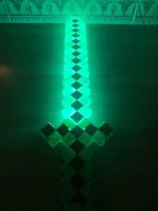 Flashing Led light up Green pixel Toy Sword  glows boys girls birthday xmas gift