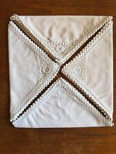 Vintage Hand Crocheted Ecru Napkins Serviettes Cotton  Set of Four