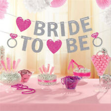 Bride To Be Banner Silver Glitter Garland Wedding Bridal Shower Hen Party XH
