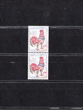 timbre France avec numero  vert  coq de Decaris 25c outremer  1331 c   **