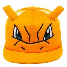 POKEMON CHARIZARD BIG FACE WITH EARS TRUCKER MESH Snapback Hat (457519)