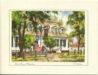 VINTAGE VIRGINIA WILLIAMSBURG TREE RALEIGH FARMS TAVERN PRINT 1 KITCHEN TEA CARD