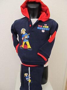 Baby Boys Jogging Suit Fireman Sam Leisure Suit Trousers Pullover Blue 62-68