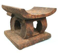 Art Africain - Très Ancien Tabouret d'Autel Akan - Devin Baoulé - 30 Cms +++++++