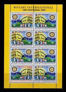 Philippines 2005 ROTARY INTERNATIONAL Centennial sheetlet of 8 Mint NH
