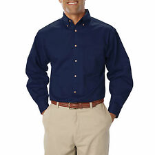 Men's Polycotton Collared Long Sleeve Loose Fit Casual Shirts & Tops
