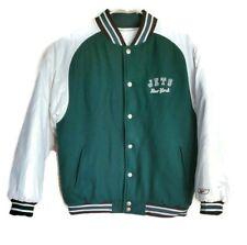 New York Jets NFL Reebok Reversible Varsity Bomber Woolen Leather Jacket Vintage