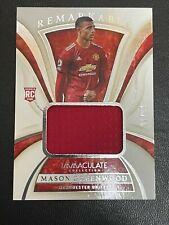 🔥01/99🔥2020-21 Panini Immaculate Soccer Jersey Patch Mason Greenwood Man Utd